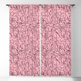 Wine (pink) Blackout Curtain