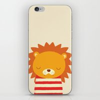 lion iPhone & iPod Skins featuring Lion by UiNi