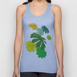 Tropical Leaves Unisex Tank Top