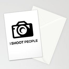 I SHOOT PEOPLE Stationery Cards