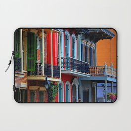 Colorful French Quarter Row Homes Laptop Sleeve