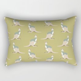 Whimsical Kangaroo Rectangular Pillow