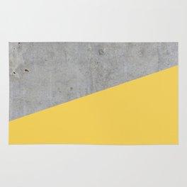 Concrete and Primrose Yellow Color Rug