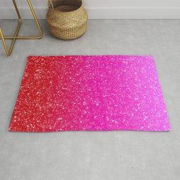 Red/Pink Glitter Gradient Rug