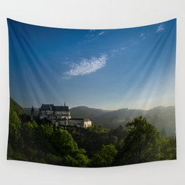Castle from Books Wall Tapestry