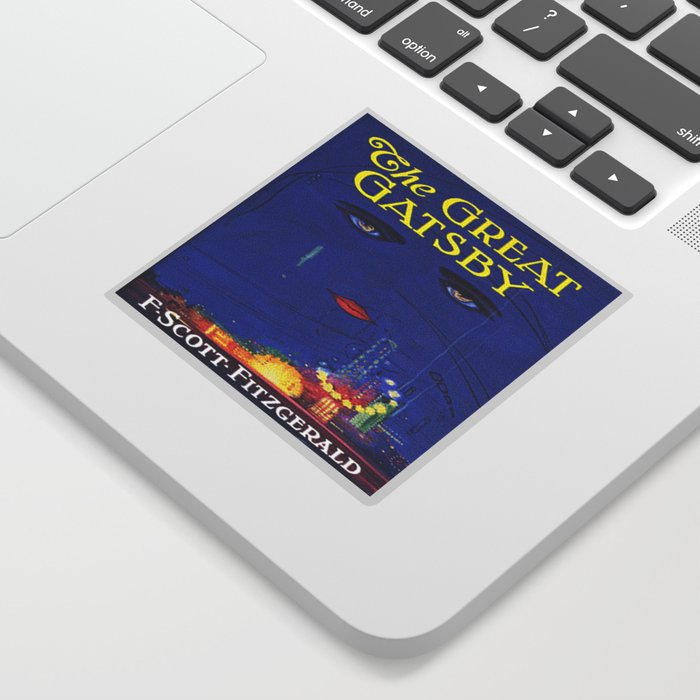 The Great Gatsby vintage book cover - Fitzgerald Sticker