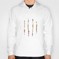 minerals Hoodies featuring Tidal Wave by Caroline Sansone