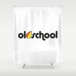 OLDSCHOOL v2 HQvector Shower Curtain