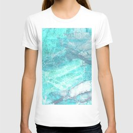 Marble Turquoise Blue Agate T-shirt