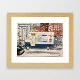 Mr Softee Ice cream truck Framed Art Print