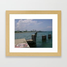 Out On The Pier Framed Art Print