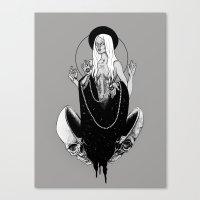 goddess Canvas Prints featuring Goddess by alesaenzart