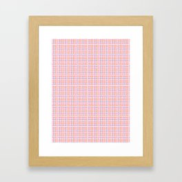 Criss Cross Weave Hand Drawn Vector Pattern Background Framed Art Print