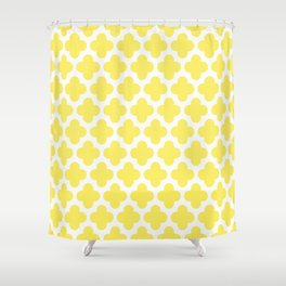 CLOVER QUATREFOIL LEMON Shower Curtain