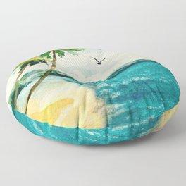 Palm Trees 1 Floor Pillow