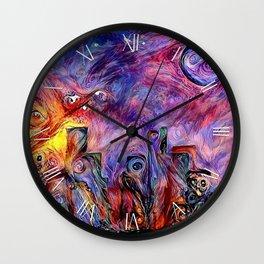 Night city silhouettes Wall Clock