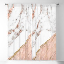 Marble rose gold blended Blackout Curtain