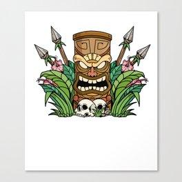 Awesome Tiki Bar Gift Print Hawaiian Island Vacation Product Canvas Print