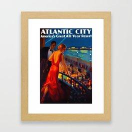 Atlantic City New Jersey Travel Framed Art Print