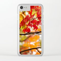 Autumn Bliss Clear iPhone Case
