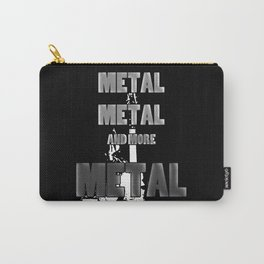 Metal, Metal and More Metal Carry-All Pouch