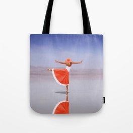 Ballerina Dancing On The Beach Tote Bag