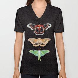 Giant Silk Moths - Digital Painting Unisex V-Neck