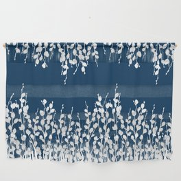 Pussywillow Silhouettes — Midnight Blue Wall Hanging