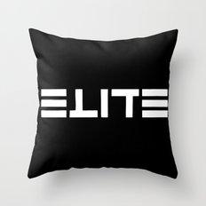 ELITE - Ambigram series (Black) Throw Pillow