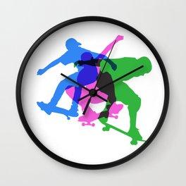 Skateboard Air Wall Clock