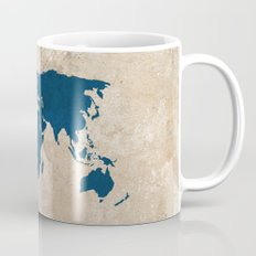 Rustic World Map Coffee Mug