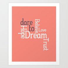 Dare to Love -- Alternate Version Art Print
