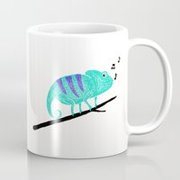 chameleon Mugs featuring Chameleon by Helena's universe