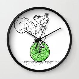 Cocktail Acrobatics Wall Clock