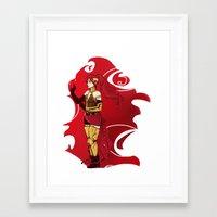 rwby Framed Art Prints featuring RWBY Pyrrha by IslandMyths