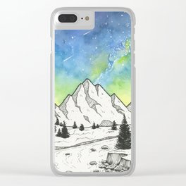 Mountain Skies Clear iPhone Case