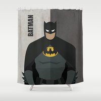 super hero Shower Curtains featuring Hero by Loud & Quiet