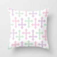 goth Throw Pillows featuring Pastel Goth by Glitterati Grunge