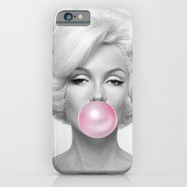Marylin Monroe Bubble Gum Art iPhone Case