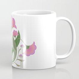 Folk art Spring flower garden Coffee Mug