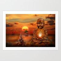 buddha Art Prints featuring Buddha by teddynash