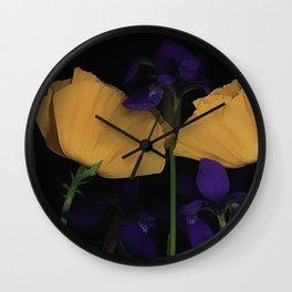 Poppy + Iris Wall Clock