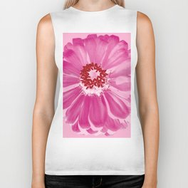 Abstract Photo Large Pink Flower Biker Tank