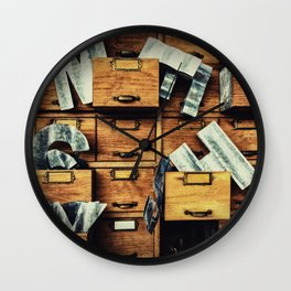 Filing System Wall Clock