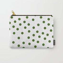 Simply Dots in Jungle Green Carry-All Pouch