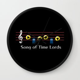 Song of Time Lords Wall Clock
