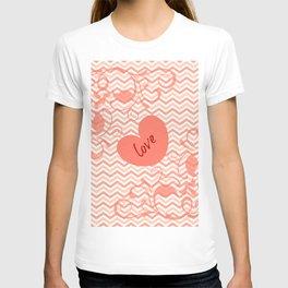 Chevron Love Peach T-shirt