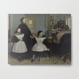 Edgar Degas - The Bellelli Family Metal Print