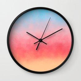 Summer Beach Watercolor Wall Clock