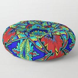 Bright Mandala, Version 1 Floor Pillow